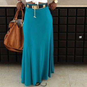 Easy breezy Teal skirt!!